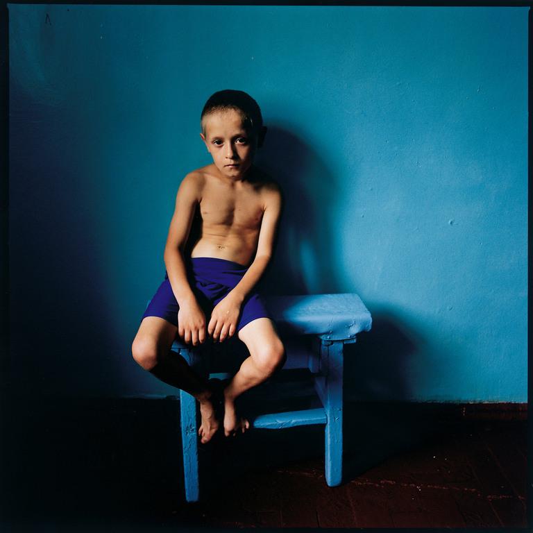 Boy on a Stool, Ukraine 2006