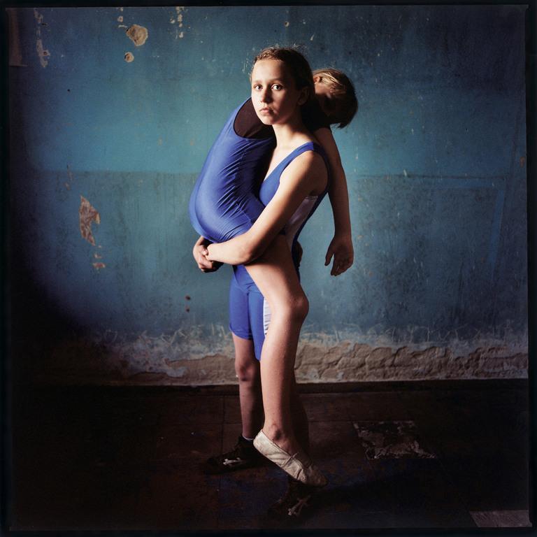 Girl lifting a girl, Ukraine 2008