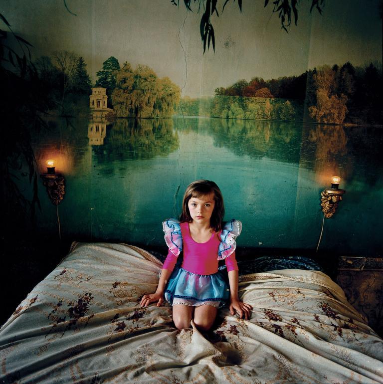 Alona in the bedroom, Ukraine 2006