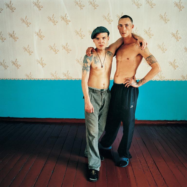 Vova and Alexander, Men's  prison, Ukraine 2010. Vova (on the left) sentenced for theft. Alexander wouldn't reveal his crime