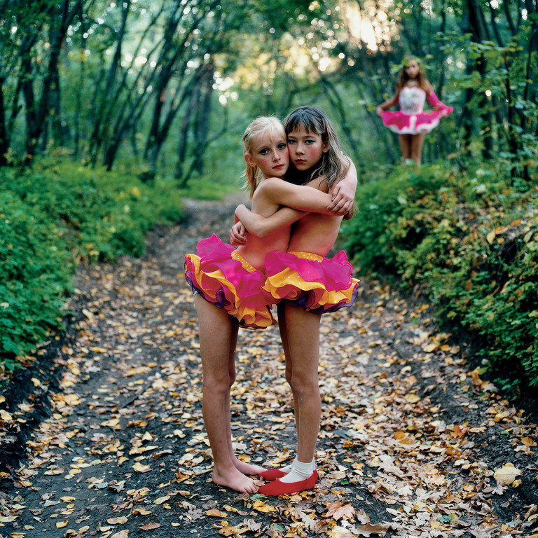 Xenia, Janna and Alona in the woods, Russia 2003
